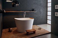 55 Modern Japanese Style Bathroom Ideas ~ Best Minimalist Japanese Bathrooms Japanese Style Bathroom, Japanese Bathtub, Japanese Soaking Tubs, Deep Soaker Tub, Small Soaker Tub, Bathtub Remodel, Small Showers, Small Bathroom, Bathroom Ideas