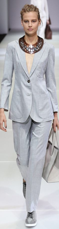 Giorgio Armani Collection Spring 2015 | The House of Beccaria~
