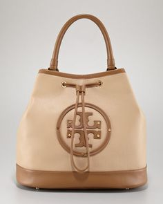 Maisey Drawstring Tote Bag by Tory Burch at Neiman Marcus.