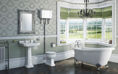wide baseboards   Camberley Bathroom Suite Range : Victoria Plumb