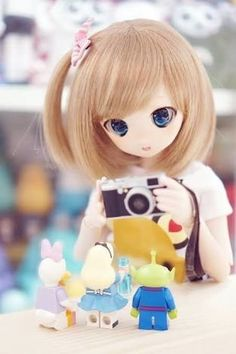 Pick Five Things To Eat And We'll Reveal Your Greatest Fear Ooak Dolls, Blythe Dolls, Girl Dolls, Barbie Dolls, Kawaii Doll, Kawaii Anime, Pretty Dolls, Beautiful Dolls, Anime Figurines