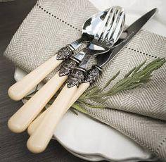 WITHIN Fleuris Vintage Style Cutlery Set