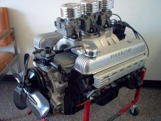 "1957, 364ci Buick V-8, Buford ""Nailhead"" Engine. I saw one of these topped with a fuel-injected blower stuffed into a small, 2-seat Austin Healey sports car. Did the quarter mile in 12 sec. In 1959!!"