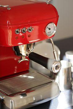 Ascaso Dream Up Espresso Machine  Beautiful red version