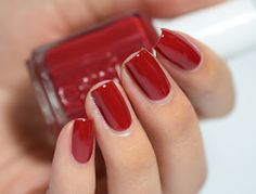 Essie - Virgin Snow Winter 2015 Collection - Shall We Chalet?: a gorgeous deep red creme