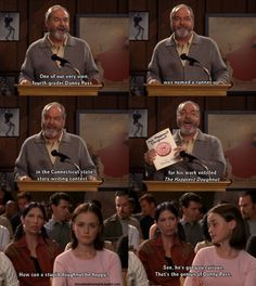 Gilmore Girls. Good thing my roommates introduced this to me, so I know what this show is. Because this is pretty stinkin funny!