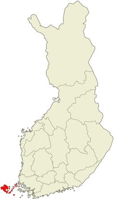 Location of Åland within Finland