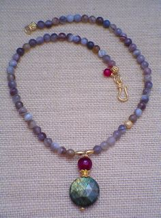 Labradorite of Love Necklace by gwensofferjewelry on Etsy