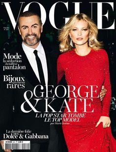 George Michael & Kate Moss; Vogue Paris, October 2012