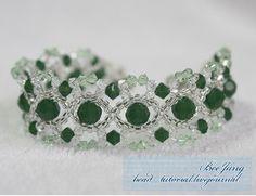 Irish Crystals Bracelet   AllFreeJewelryMaking.com