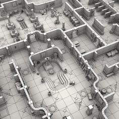 Fantasy dungeon master kit – Famous Last Words Blender 3d, Dungeon Tiles, Dungeon Maps, Game Level Design, Game Design, Environment Concept Art, Environment Design, Concept Art Landscape, Low Poly Games