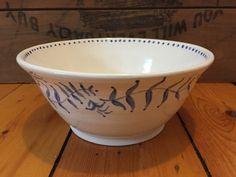 Scandinavian Porcelain Mixing/Serving Bowl by VAceramics on Etsy