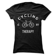 Cycling Is My Therapy T Shirts, Hoodies. Check price ==► https://www.sunfrog.com/Fitness/Cycling-Is-My-Therapy-Shirt.html?41382 $19