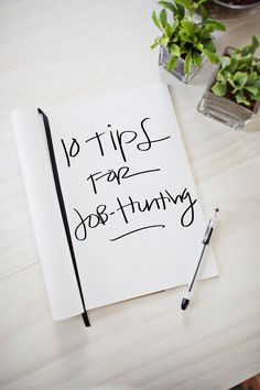 10 Job-Hunting Tips - work it + sell it! #planning #smallbiz