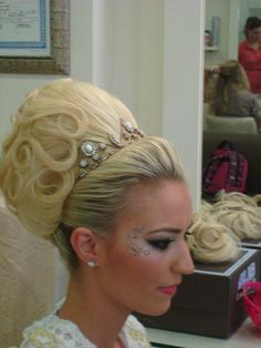 :)     Blond Bouffant