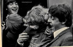The Beatles meet 4 year old Allison Clark on the set of A Hard Day's Night. The Beatles were told how disappointed Allison was to miss their show when she was sick. She got a surprise when she got to meet them. But she was too shy to even show her face!