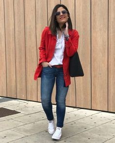 Shop sexy club dresses, jeans, shoes, bodysuits, skirts and more. Red Blazer Outfit, Blazer Outfits Casual, Look Blazer, Business Casual Outfits, Mode Outfits, Chic Outfits, Fashion Outfits, Womens Fashion, Fall Outfits