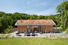 Sustainable Family Home, Dunsford near Exeter – Living Space Architects: Award-winning RIBA Architects based in Exeter, Devon Natural Building, Green Building, Exeter Devon, Green Architecture, Future House, Outdoor Spaces, Living Spaces, Home And Family, Shed