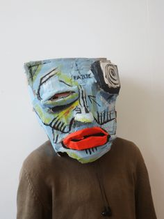 Cardboard Head Sculptures by David Whelan, via Behance Cardboard Mask, Cardboard Sculpture, 3d Kino, Art Doodle, Classe D'art, Masks Art, Paperclay, Arts Ed, Art Plastique