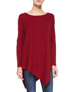 Tambrel Asymmetrical Sweater, Women's, Size: S, Deep Scarlet - Joie