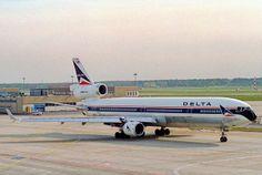 Delta Air Lines MD-11; N801DE@FRA;19.10.1994 | Flickr - Photo Sharing!