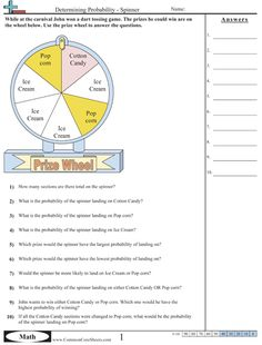 Probability Worksheets- with links to other Common Core Based math practice sheets
