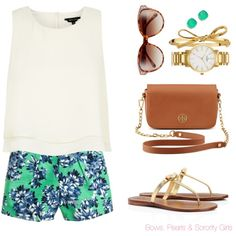 A fashion look from May 2014 featuring J.Crew shorts, Tory Burch sandals and Kate Spade watches. Browse and shop related looks.