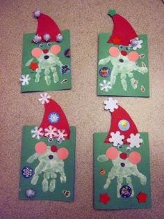 Craft for kids christmas hand print 33 ideas for 2019 Preschool Christmas, Christmas Activities, Christmas Crafts For Kids, Kids Christmas, Holiday Crafts, Christmas Decorations, Xmas, Christmas Ornaments, Christmas Trees