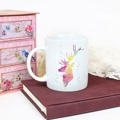 Deer Watercolor Art Mug ceramic coffee mug ♥️ All of our mugs are professionally printed by us. It leaves a permanent imprint on the mug. We inspect every mug carefully before it ships to ensure your mug is printed beautifully. Watercolor Deer, Watercolor Animals, Round Dining, Fine Dining, Animal Mugs, Cat Mug, Outdoor Dining, Coffee Mugs, Ceramics