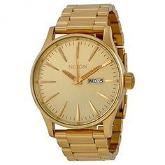 Nixon Men's Sentry Watch One Size Gold -- You can find more details by visiting the image link.