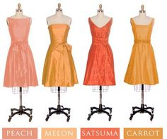 hmmmm...bridesmaids yellow and orange ...like it in theory not sure yet how I feel...like the fall colors idea though