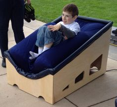 They invented a sensory chair that gives kids with autism a big hug - Wow!