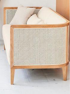Sofa Rattan - Geflecht - My best home decor list Cane Furniture, Rattan Furniture, Online Furniture, Barbie Furniture, Sofa Rattan, Lounge Set Rattan, Sofa Design, Furniture Design, Rosa Sofa
