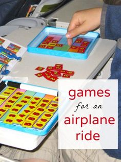 Travel games for kids to take on an airplane ride. Keep them busy without screens!