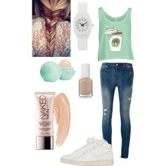 A fashion look featuring RtA jeans, NIKE sneakers and Nixon watches. Browse and shop related looks.