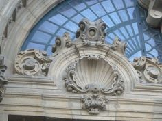 ❥ scallop shell architectural detail