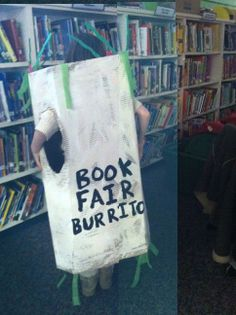 Book Fair Fiesta burrito!  Make kid-size and use to advertise for family events!  Have students wave to families dropping students off at school.