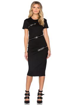 56b60b3115b Shop for McQ Alexander McQueen All Around Zip Dress in Darkest Black at  REVOLVE.