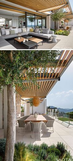 The wooden pergola is a good solution to add beauty to your garden. If you are not ready to spend thousands of dollars for building a cozy pergola then you may devise new strategies of trying out something different so that you can re Large Backyard Landscaping, Backyard Pergola, Pergola Shade, Outdoor Pergola, Outdoor Rooms, Outdoor Dining, Outdoor Seating, Patio Grande, Shade House