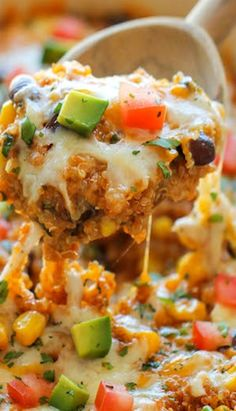 Quinoa Enchilada Casserole. A-Freaking-Mazing. You much try!!!