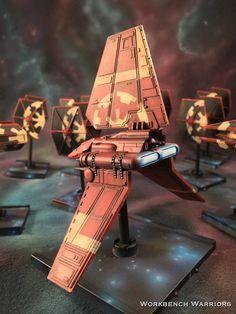 The imperial Remnant fleet #ffg #fantasyflight #fantasyflightgames #starwars # xwingrepaints #BFG #lambashuttle  #xwing