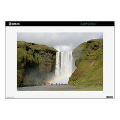 Iceland_waterfall_zazzle_skin_decal_for_laptop