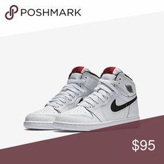 Nike Air Jordan Retro 1 brand new Ladies white leather Nike Air Jordan Retro 1 sneakers, never been worn. Nike Shoes Athletic Shoes