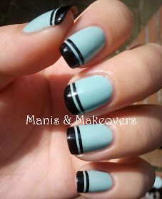 Manis & Makeovers: Preppy French Tips, That's What I Mint!