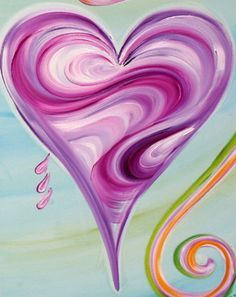 Happy Art Happy Heart - Art by Debbie Arambula Heart Art, Love Heart, Heart Painting, Paint And Sip, Happy Art, Watercolor Cards, Learn To Paint, Pictures To Paint, Doodle Art