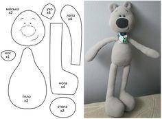 Black nosed bear softie + free pattern. #SoftToy #diy