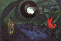 Marc Chagall- Le Quai de Bercy 1953