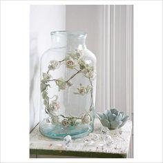 dried flowers in a jar