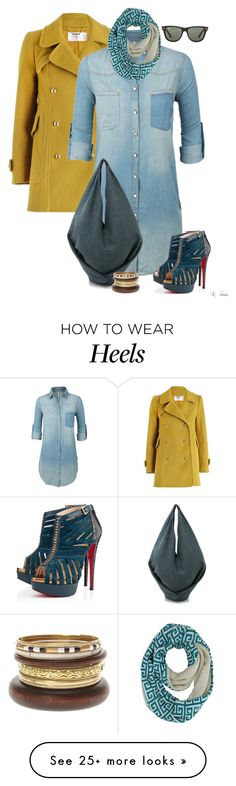 """Winter Sunnies...Did I mention I love those heels?"" by ksims-1 on Polyvore featuring Zimmermann, LE3NO, Christian Louboutin, MM6 Maison Margiela and Ray-Ban"