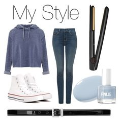 """My style"" by vivi-kk on Polyvore featuring Miss Selfridge, NYDJ, Converse, GHD and Yves Saint Laurent"